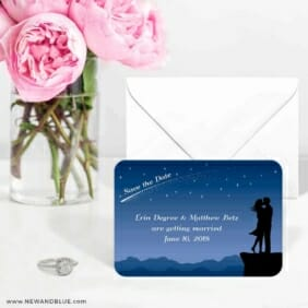 Shooting Star 6 Wedding Save The Date Magnets