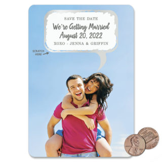 Shout It Out 1 Scratch Off Save The Date Magnet