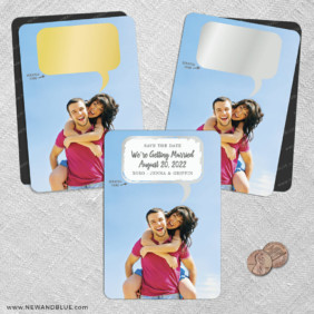 Shout It Out 2 Scratch Off Save The Date Fridge Magnet