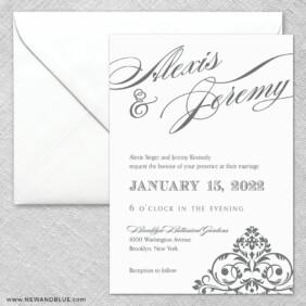 Signature 2 Invitation And Envelope