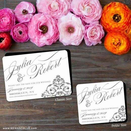 Signature 2 Save The Date Magnet Classic And Petite Size