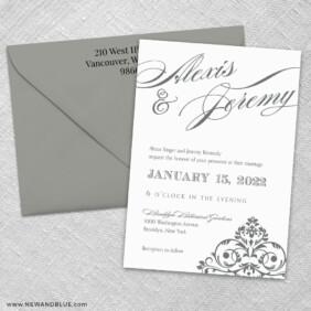 Signature 3 Invitation And Color Envelope