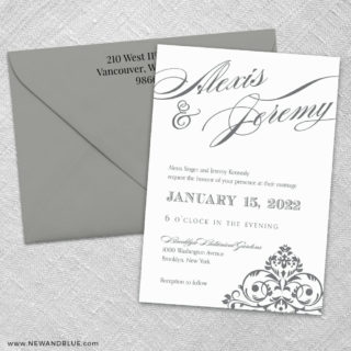 Signature 3 Invitation And Color Envelope