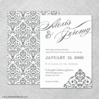 Signature 4 Invitation Shown With Back Printing