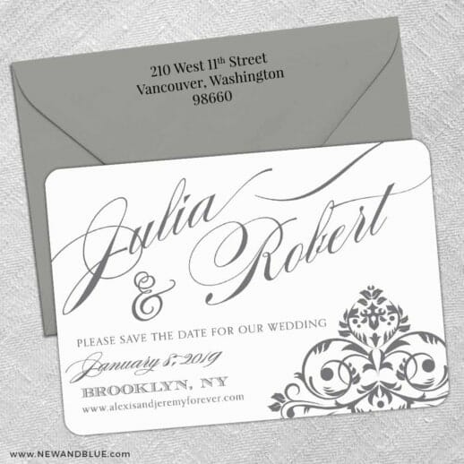 Signature 5 Save The Date With Optional Color Envelope