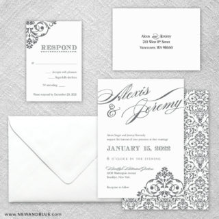 Signature 5 Wedding Invitation And Rsvp Card