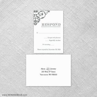 Signature 6 Reception Card And Rsvp Card