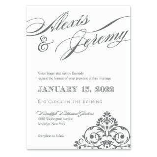 Signature Wedding Invitation