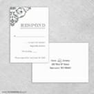 Signature Rsvp Card And Envelope
