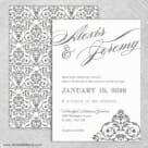 Signature Wedding Invitation With Back Printing