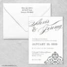 Signature Wedding Invitation With Envelope