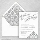 Signature Wedding Invitation With Envelope Liner