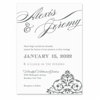 Signature Wedding Invitation