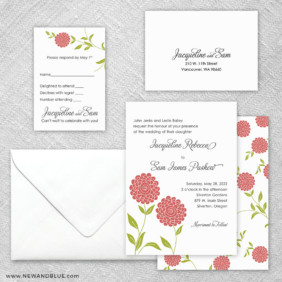 Silverton 5 Wedding Invitation And Rsvp Card