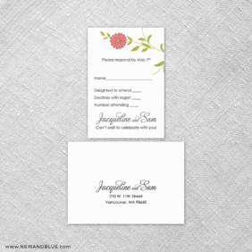 Silverton 6 Reception Card And Rsvp Card