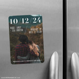 Simply Modern 2 Save The Date Refrigerator Magnet