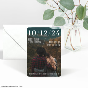 Simply Modern 3 Save The Date Magnet With Envelope