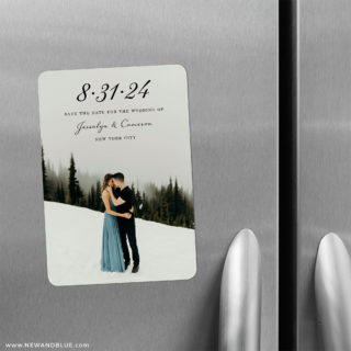 Simply Smitten 2 Save The Date Refrigerator Magnet