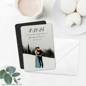 Simply Smitten 6 Wedding Save The Date Magnets With Envelope