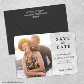 Simply Sweet 3 Save The Date With Optional Color Envelope
