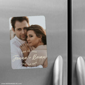 Simply Us 2 Save The Date Refrigerator Magnet