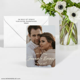 Simply Us 7 Wedding Save The Date Magnet