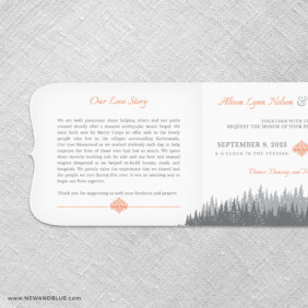 Skamania All In One Invitation With Optional Photo