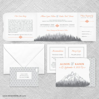 Skamania All In One Wedding Invitation Suite