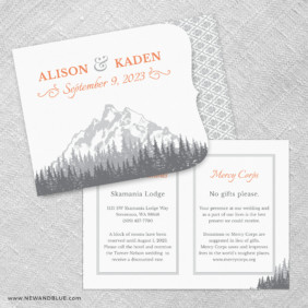 Skamania Allinone Wedding Invitation Set