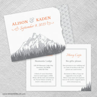 Skamania Allinone Wedding Invitation Set