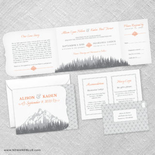 Skamania Combined All In One Wedding Invitation