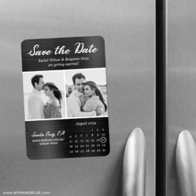 Smoldering Love 2 Save The Date Refrigerator Magnet