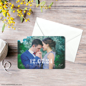 So Romantic 3 Save The Date Magnet With Envelope