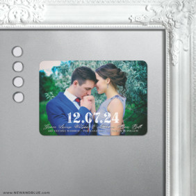 So Romantic 5 Save The Date Fridge Magnet