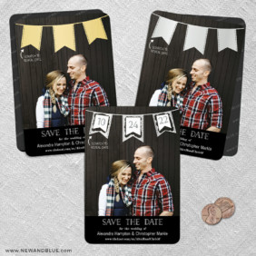 Soiree V2 2 Scratch Off Save The Date Fridge Magnet