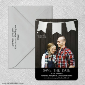 Soiree V2 4 Scratch Off Save The Date With Optional Color Envelope