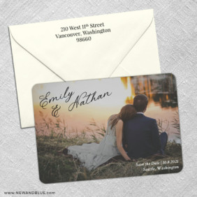 Solemn 3 Save The Date With Optional Color Envelope