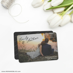 Solemn 5 Save The Date Magnet