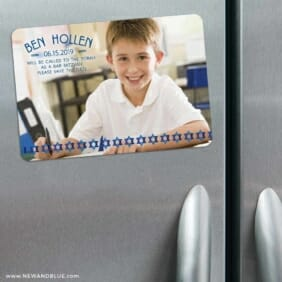 Solomon Bar Mitzvah 3 Refrigerator Save The Date Magnets