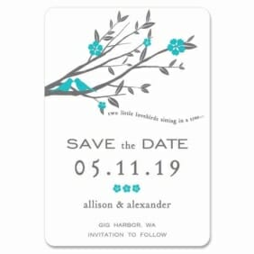 Songbird 1 Save The Date Magnets