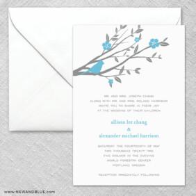 Songbird 2 Invitation And Envelope