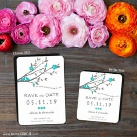Songbird 2 Save The Date Magnet Classic And Petite Size