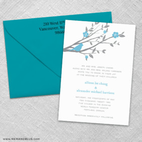 Songbird 3 Invitation And Color Envelope