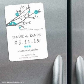 Songbird 3 Refrigerator Save The Date Magnets