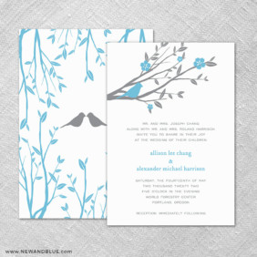 Songbird 4 Invitation Shown With Back Printing