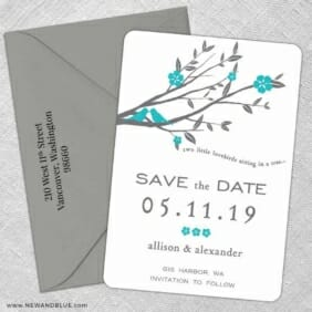 Songbird 5 Save The Date With Optional Color Envelope