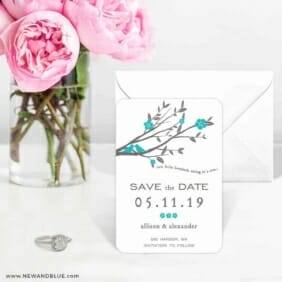 Songbird 6 Wedding Save The Date Magnets