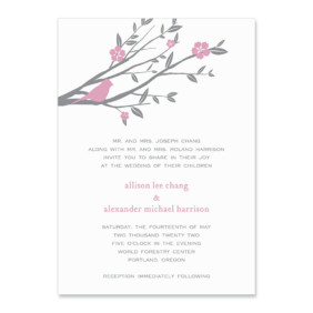 Songbird Wedding Invitation