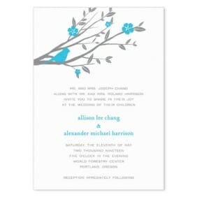 Songbird Wedding Invitation