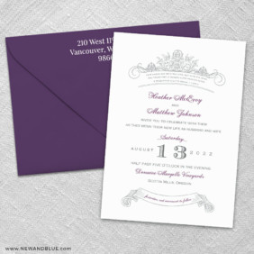 Sonnet 3 Invitation And Color Envelope